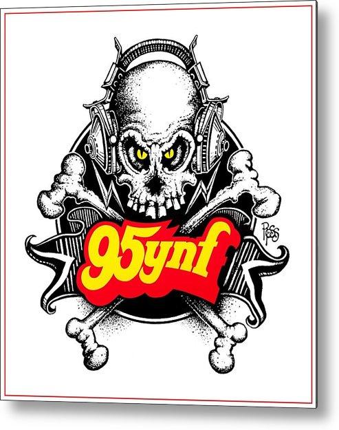 95ynf Metal Print featuring the digital art Rock 'n Roll Pirates by Scott Ross