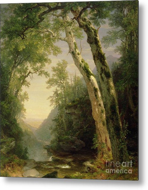 The Catskills Metal Print featuring the painting The Catskills by Asher Brown Durand