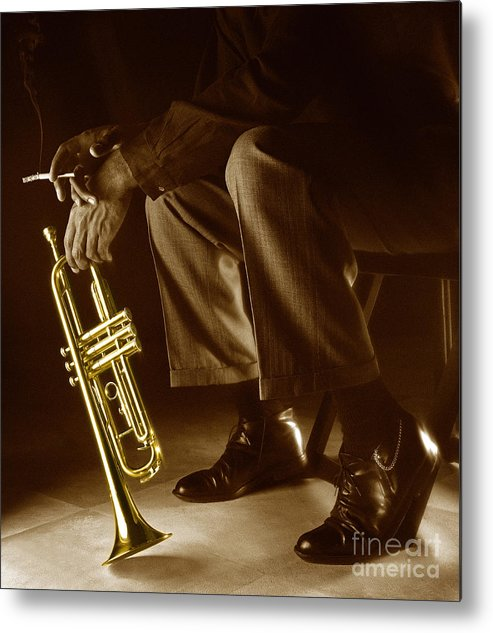 Trumpet Metal Print featuring the photograph Trumpet 2 by Tony Cordoza