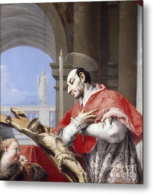 Saint Metal Print featuring the painting Saint Charles Borromeo by Giovanni Battista Tiepolo