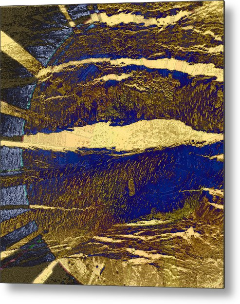 Abstract Metal Print featuring the photograph Sun And Clouds by Lenore Senior