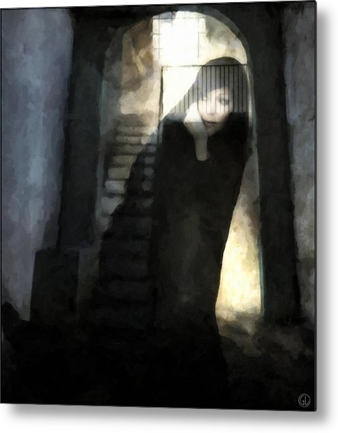 Woman Metal Print featuring the digital art Visitor From Long Ago by Gun Legler
