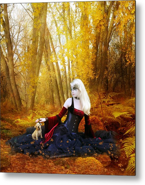Woman Metal Print featuring the digital art Warm Friends by Mary Hood