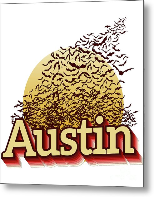 Bats Over Austin Metal Print featuring the photograph Bats Over Austin by Herronstock Prints