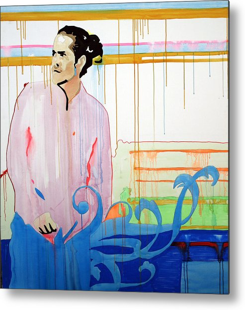 Citizen Metal Print featuring the painting Citizen Cope - Seattle - The Showbox - May 28th 2007 by Pete Nawara