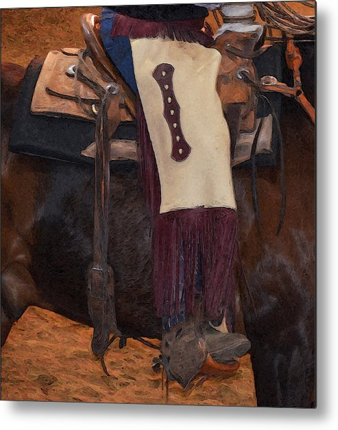 Chinks Metal Print featuring the photograph Cowboy Chinks by Susie Fisher