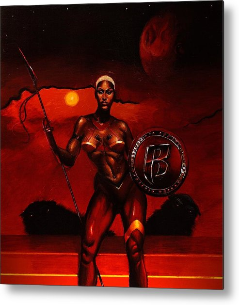 Hip Hop Metal Print featuring the painting Eve by Raphael Sanabria