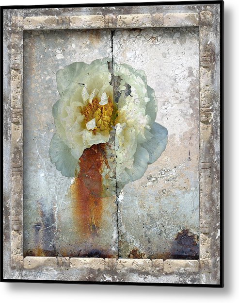 Painting Metal Print featuring the photograph Fragments Of Atlantis by Ron Morecraft