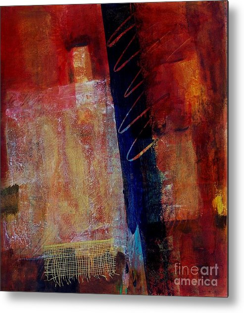 Abstract Expressionism Metal Print featuring the painting In The Moment 002 by Donna Frost