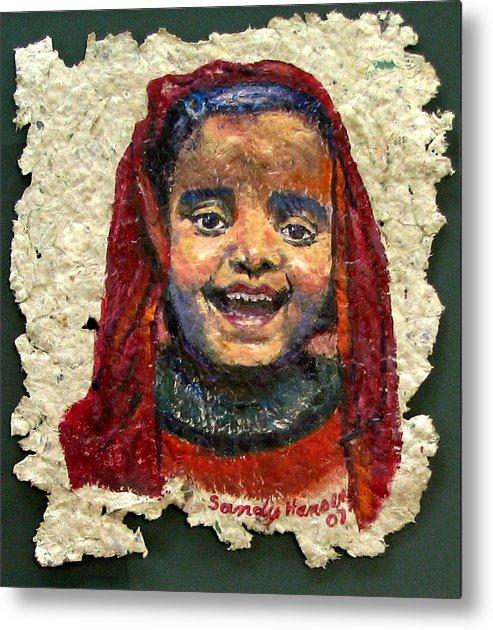 Joy Metal Print featuring the painting Joy by Art Nomad Sandra Hansen