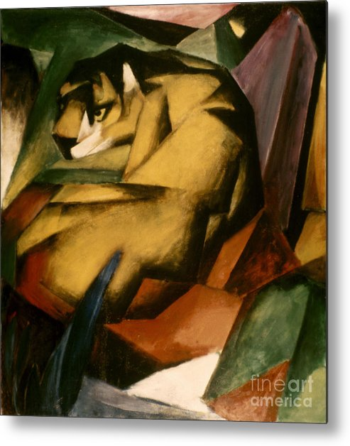 1912 Metal Print featuring the photograph Marc: The Tiger, 1912 by Granger