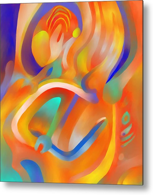 Colorful Metal Print featuring the digital art Musical Enjoyment by Peter Shor