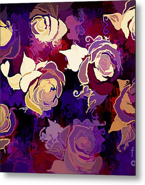 Rose Abstract. Roses: Admired Metal Print featuring the digital art Rose Abstract by Trudee Hunter