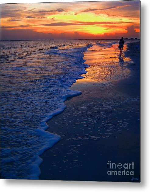 Sunset Metal Print featuring the photograph Sunset 1 by Jeff Breiman