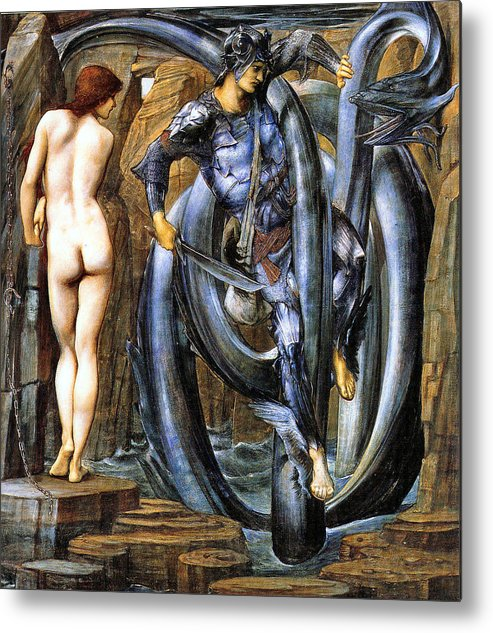 The Perseus Series Metal Print featuring the digital art The Doom Fulfilled by Edward Coley Burne-Jones