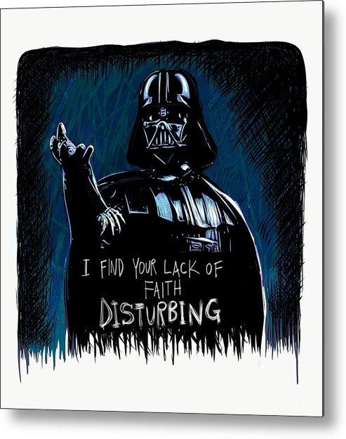 Darth Vader Metal Print featuring the digital art Vader by Antonio Romero