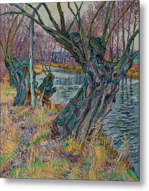 Willow Metal Print featuring the painting Weeping Willows by Vitali Komarov