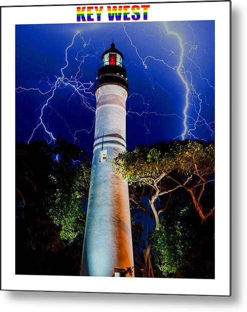 Key West Metal Print featuring the mixed media Key West Lighthouse by Jas Stem