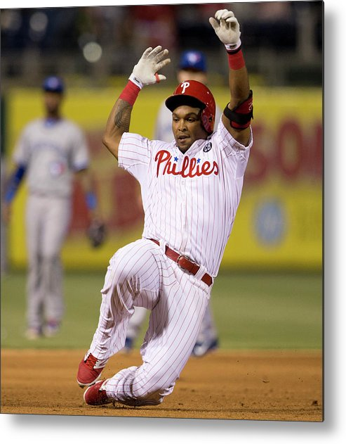 Marlon Byrd Metal Print featuring the photograph Marlon Byrd by Mitchell Leff