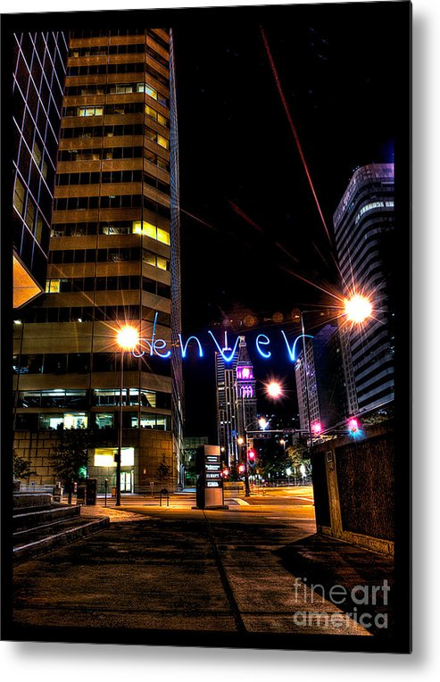 Light Painting Photography Metal Print featuring the photograph Denver Colorado by Chris Look