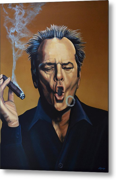 Jack Nicholson Metal Print featuring the painting Jack Nicholson Painting by Paul Meijering