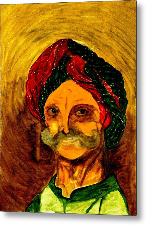 Face Metal Print featuring the painting Faces by Baljit Chadha