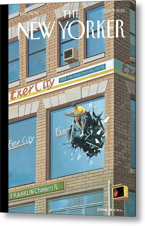 Excercise Metal Print featuring the painting New Yorker September 9th, 2013 by Bruce McCall