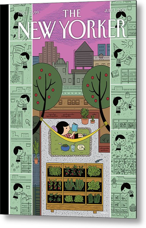 Roof Metal Print featuring the painting New Yorker July 1st, 2013 by Ivan Brunetti