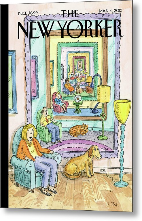 Dog Metal Print featuring the painting New Yorker March 4th, 2013 by Roz Chast