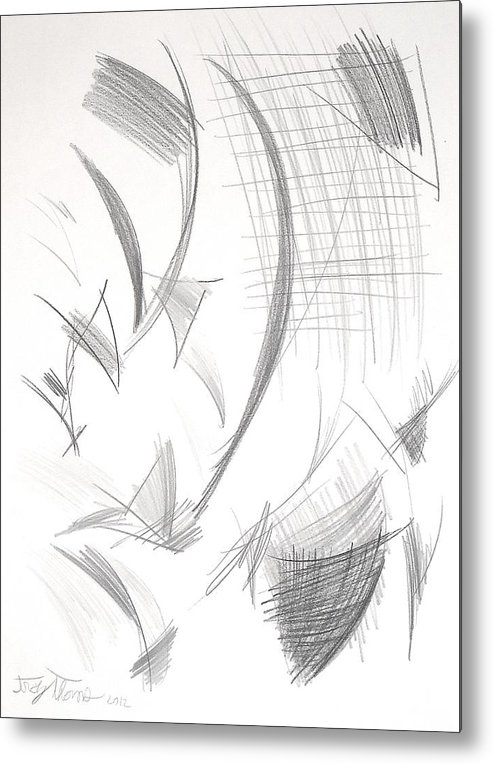 Abstract Metal Print featuring the painting Untitled by Troy Thomas