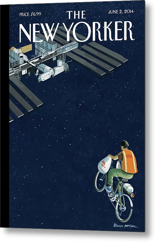 Delivery Metal Print featuring the painting Free Delivery by Bruce McCall