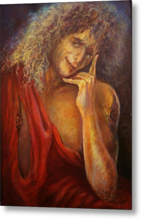 Metal Print featuring the painting A Man In Toga by Sylva Zalmanson
