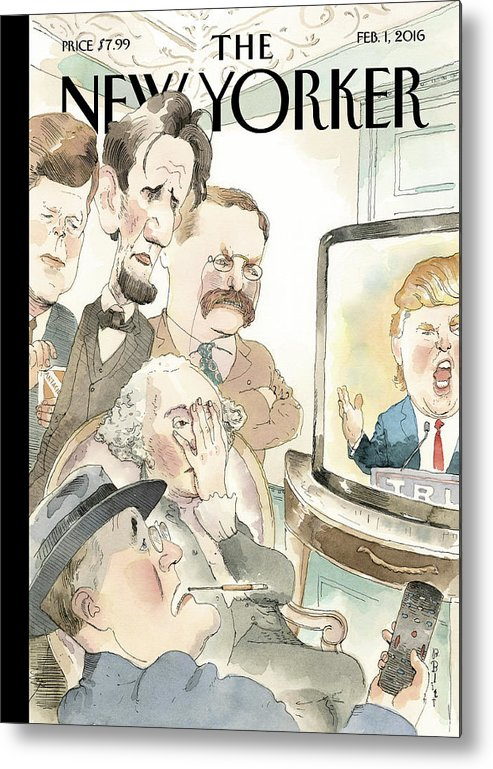 Presidents Metal Print featuring the painting Bad Reception by Barry Blitt