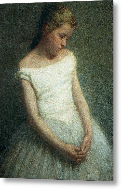 Painting; 19th Century Painting; 20th Century; Europe; Italy; Morbelli Angelo; Dancer (female); Glance; Post-impressionism Metal Print featuring the painting Ballerina Female Dancer by Angelo Morbelli