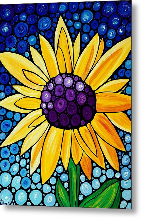 Floral Art Metal Print featuring the painting Basking In The Glory by Sharon Cummings