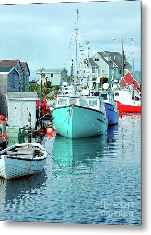 Boat Metal Print featuring the photograph Boating In The Village by Kathleen Struckle