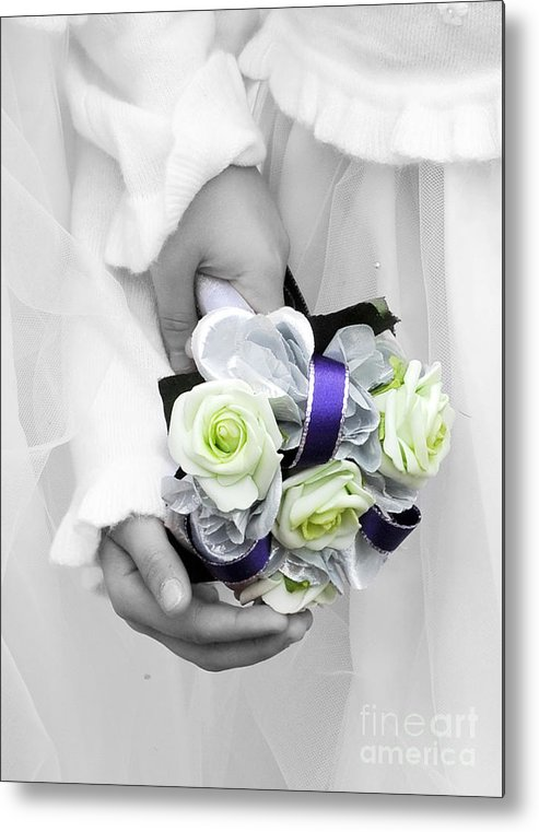 Bouquet Metal Print featuring the photograph Bridesmaid Bouquet by Paul Clavel