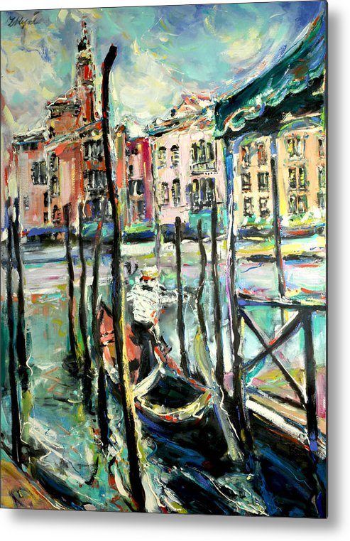 Venice Metal Print featuring the painting Canale Grande 2 by Zofia Kijak
