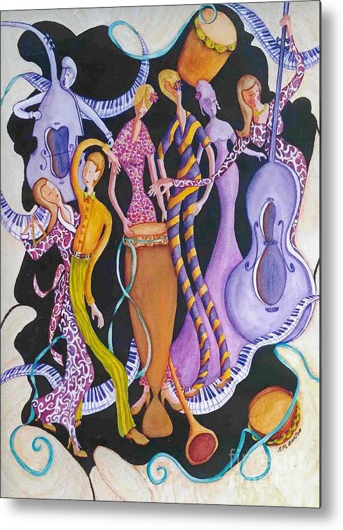 Dancers Metal Print featuring the painting Caribbean Calypso by Arleen Barton