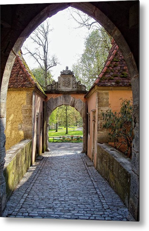 Rothenburg Metal Print featuring the photograph Castle Gate Rothenburg Ob Der Tauber by Jenny Hudson