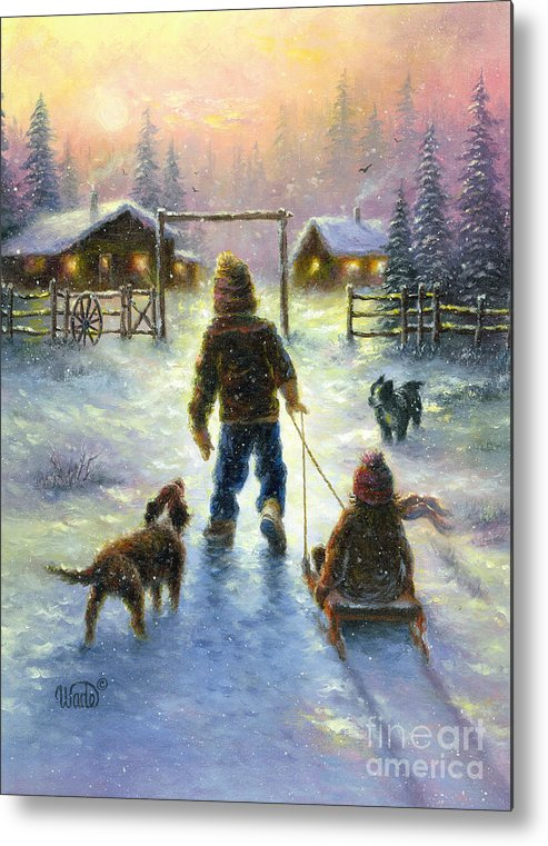 Snow Metal Print featuring the painting Cocoa Time by Vickie Wade