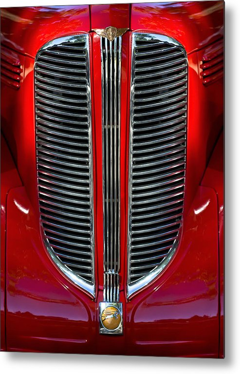 Dodge Brothers Metal Print featuring the photograph Dodge Brothers Grille by Jill Reger