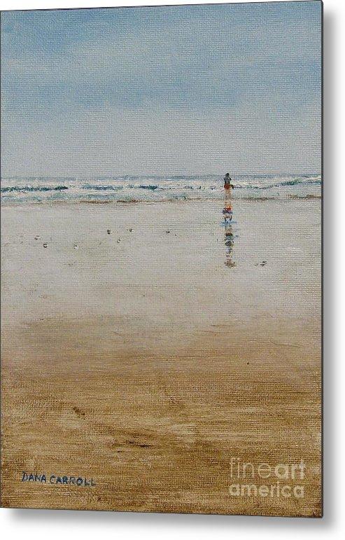 Ocean Metal Print featuring the painting Ebb Tide by Dana Carroll