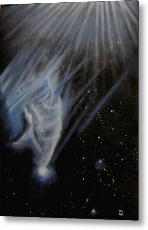 Universe Metal Print featuring the painting Flying To The Universe by Min Zou