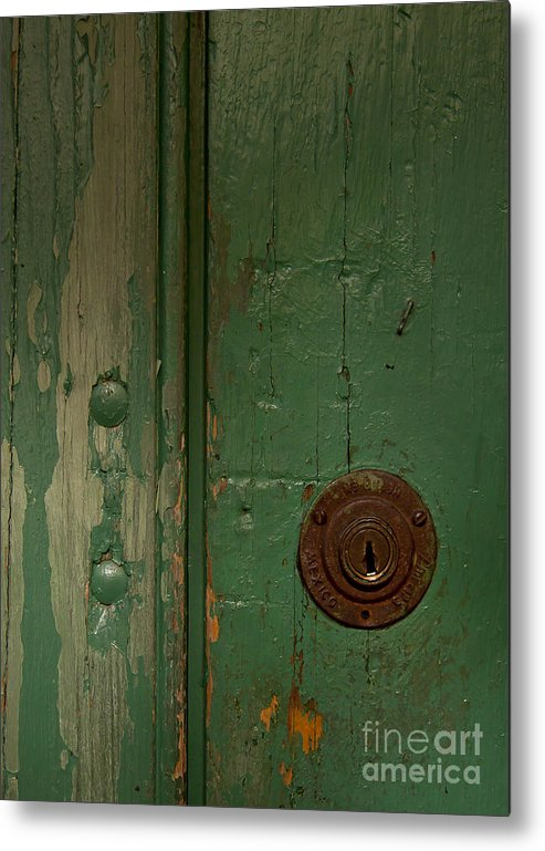 Door Metal Print featuring the photograph Green Door  #4377 by J L Woody Wooden