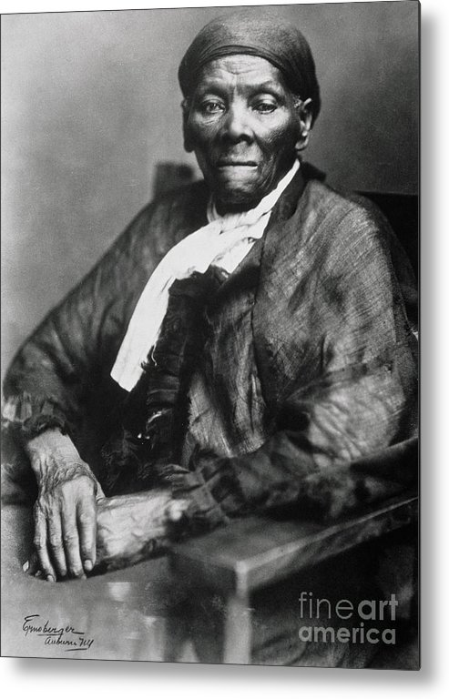 Female Metal Print featuring the photograph Harriet Tubman by American School