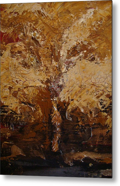 Tree Metal Print featuring the painting Harvest by Holly Picano