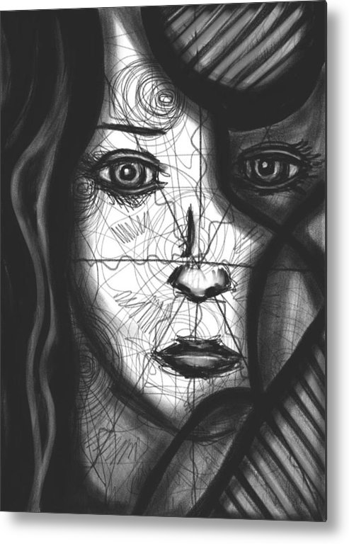 Spiral Metal Print featuring the drawing Illumination Of Self by Daina White