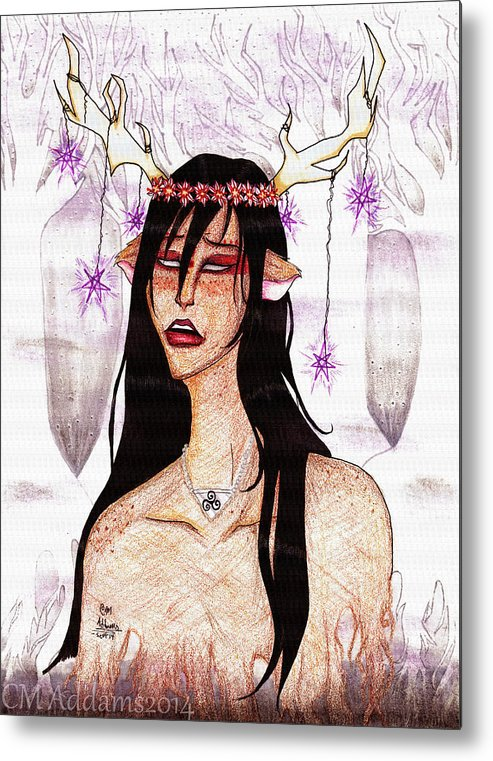 Dark Metal Print featuring the drawing I'm Still Here by CM Addams