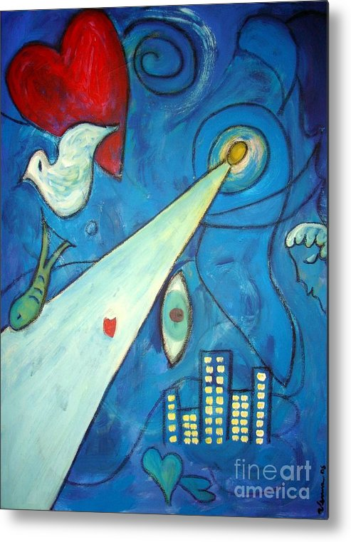 Original Painting Metal Print featuring the painting La Nuit by Venus